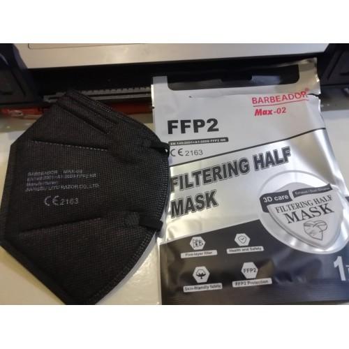Μάσκα FFP 2 Μαύρη 20 τεμ