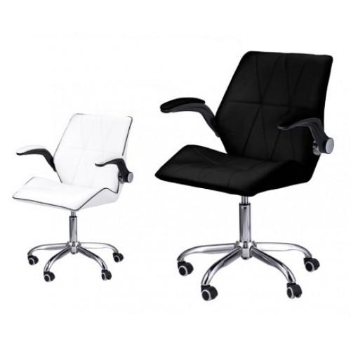 Επαγγελματική Καρέκλα Αισθητικής με αμορτισέρ λευκή και μαύρη
